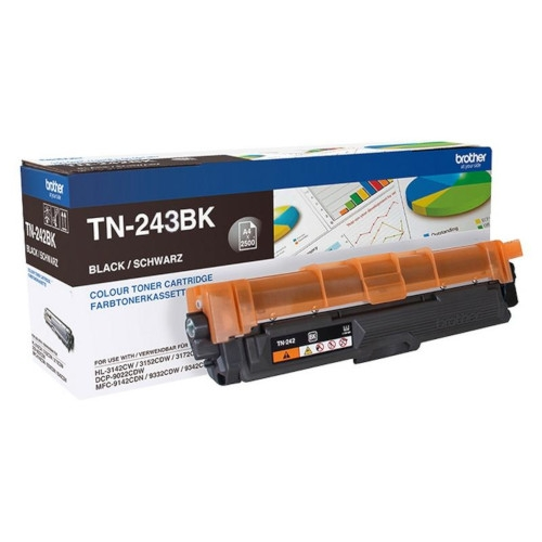 BROTHER TN243BK Cartucho de tóner original negro - TN-243BK