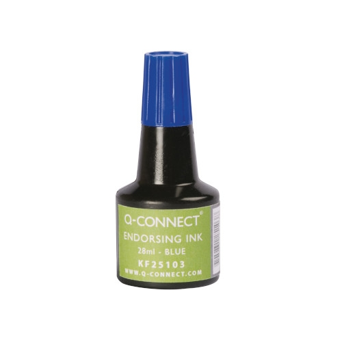Q-Connect KF25103. Tinta para tampón - frasco de 28 ml. Colores