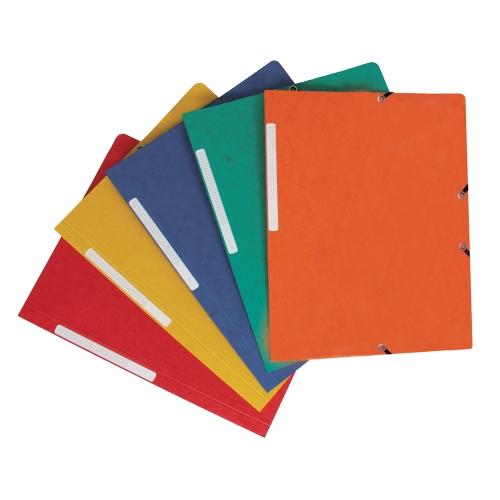 Q-Connect KF02174. Pack 10 carpetas gomas y solapas carton simil-prespan 320x243 mm. Colores