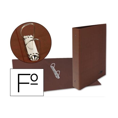 Liderpapel CH16. Carpeta de 2 anillas 40 mm mixtas folio carton cuero forrado compresor plástico