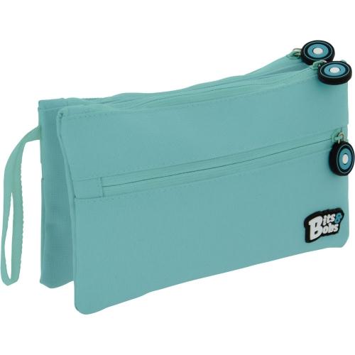 GRAFOPLAS 37545331. Estuche escolar portatodo Doble Plano Bits&Bobs azul claro