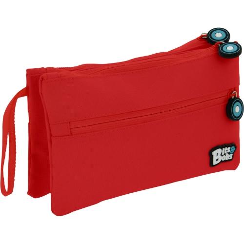 GRAFOPLAS 37545351. Estuche escolar portatodo Doble Plano Bits&Bobs rojo