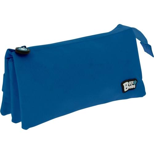 GRAFOPLAS 37545430. Estuche escolar portatodo triple plano Bits&Bobs azul