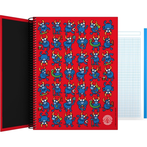 GRAFOPLÁS 16502632. Cuaderno tapa dura A4, 100 hojas, Katuki Bull