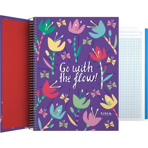 GRAFOPLÁS 16502634. Cuaderno tapa dura A4, 100 hojas, Elena Corredoira Flow