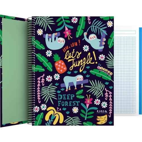 GRAFOPLÁS 16502635. Cuaderno tapa dura A4, 100 hojas, Elena Corredoira Jungle