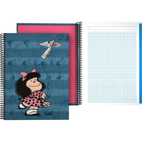 GRAFOPLÁS 16502637. Cuaderno tapa dura A4, 100 hojas, Mafalda Avión