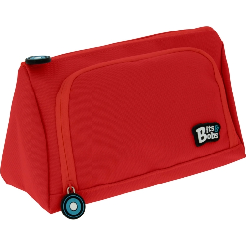 GRAFOPLAS 37545951. Estuche escolar portatodo Pirámide Bits&Bobs rojo