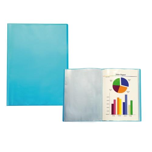 Liderpapel Carpeta de polipropileno translúcido con 40 fundas A4. Colores