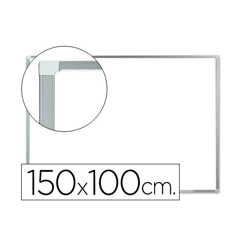 Q-Connect KF04151. Pizarra blanca lacada 150 x 100 cm con marco de aluminio