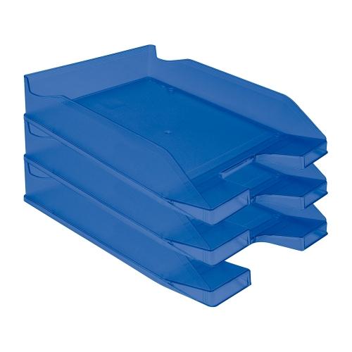 Q-Connect KF04197. Bandeja sobremesa plástico azul transparente