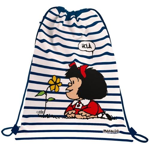 GRAFOPLAS 37610536. Mochila saco con cuerdas Mafalda Marinera