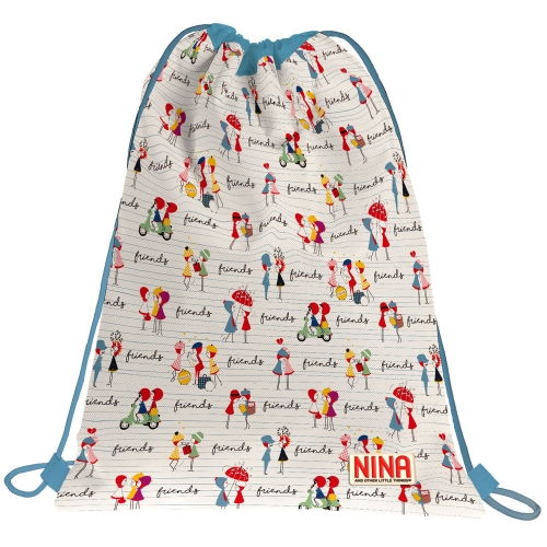 GRAFOPLAS 37610537. Mochila saco con cuerdas Nina and other little things Friends