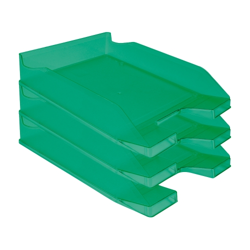 Q-Connect KF04198. Bandeja sobremesa plástico verde transparente