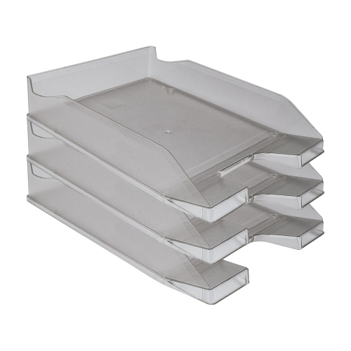 Q-Connect KF04199. Bandeja sobremesa plástico gris oscuro transparente