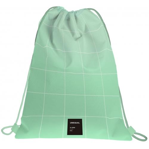GRAFOPLAS 37610726. Mochila saco con cuerdas Unequal Grid color menta