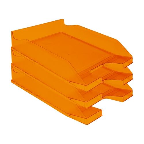 Q-Connect KF04201. Bandeja sobremesa plástico naranja transparente