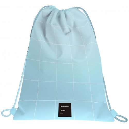 GRAFOPLAS 37610733. Mochila saco con cuerdas Unequal Grid color azul claro