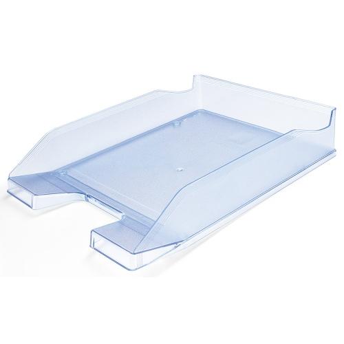 Q-Connect KF04202. Bandeja sobremesa plástico azul claro transparente