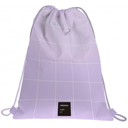GRAFOPLAS 37610769. Mochila saco con cuerdas Unequal Grid color lavanda