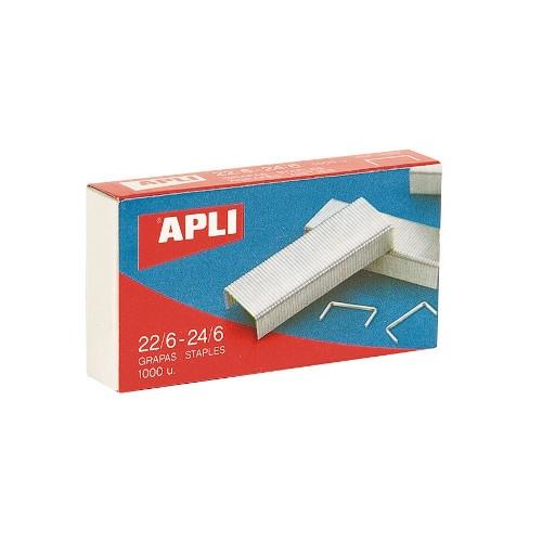 APLI 13469 Grapas galvanizadas 22/6 - 24/6 - Caja 1.000 unidades