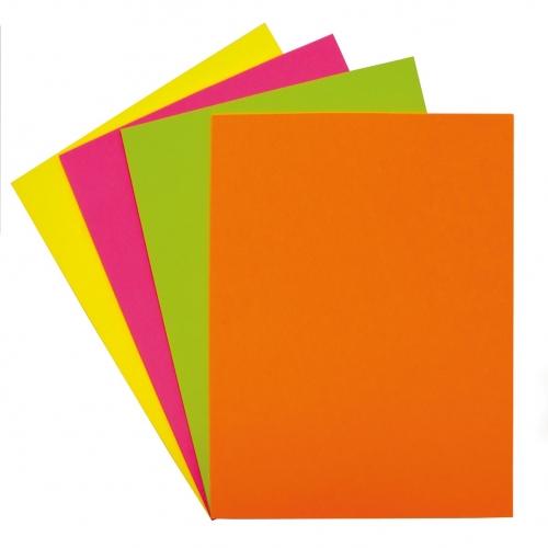 GRAFOPLAS 65009261. Papel multifunción 75 g. A4, 100 hojas. Color amarillo flúor