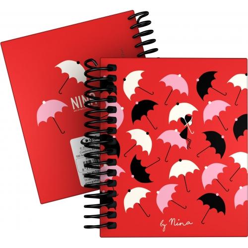 GRAFOPLAS 16531976. Cuaderno tapa dura A7 Nina Umbrellas