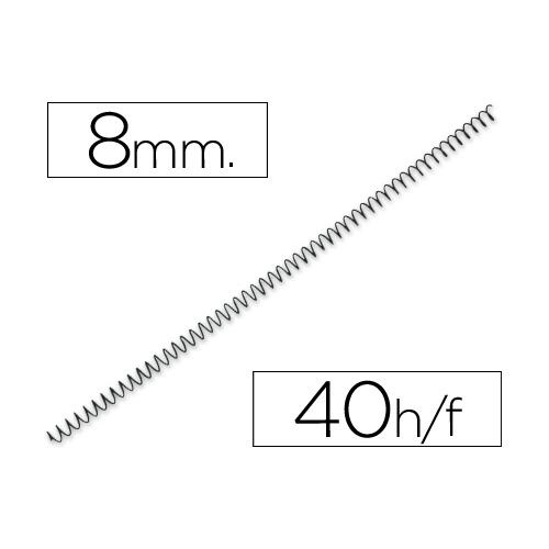 Q-Connect KF04428. Caja de 200 espirales metálicas negras 8 mm