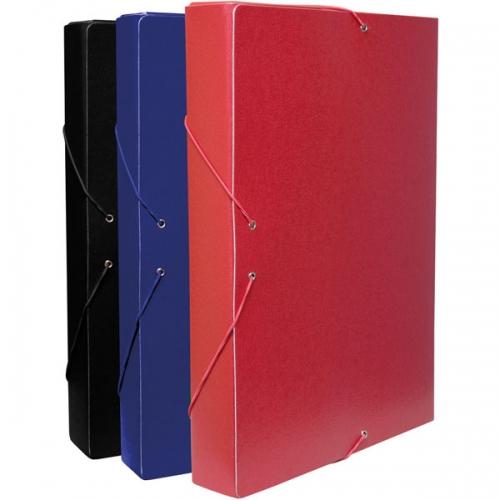 GRAFOPLÁS 91210351. Carpeta de proyectos con gomas Folio - lomo 30 cm. Color rojo