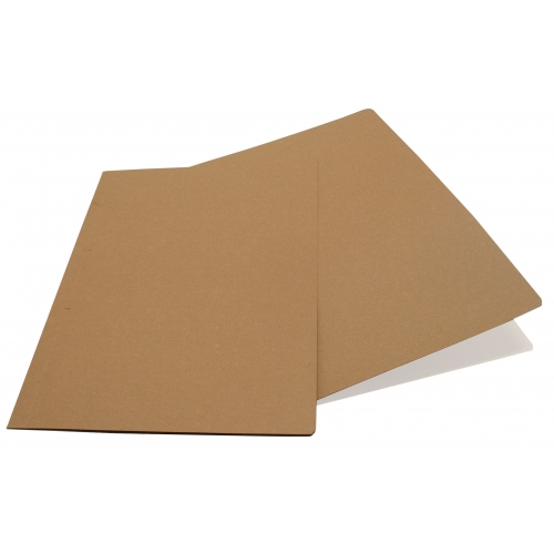 GRAFOPLAS 00077749. Pack 100 subcarpetas kraft eco Folio de 200 gr.