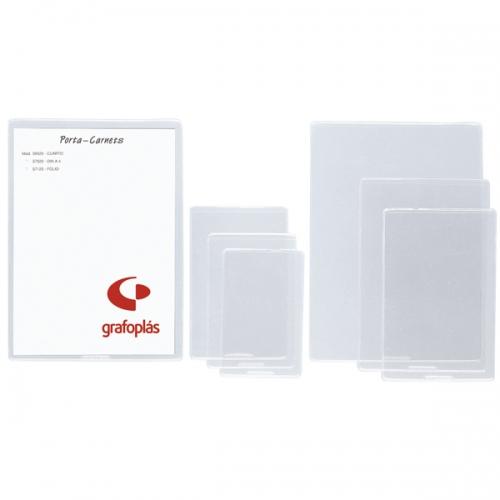 GRAFOPLÁS 05900000. Pack 25 fundas transparentes PVC flexible NIF con rebaje superior