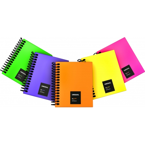 GRAFOPLAS 88556035. Cuaderno tapa dura A7 Unequal Flúor violeta