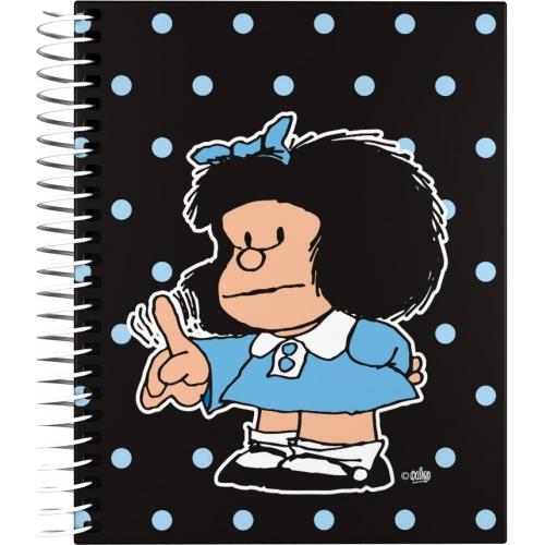 GRAFOPLAS 16521972. Cuaderno tapa dura A6 Mafalda Lunares