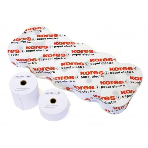 KORES 66622400. Pack 10 rollos de papel electra de 76,5x60x12 mm.