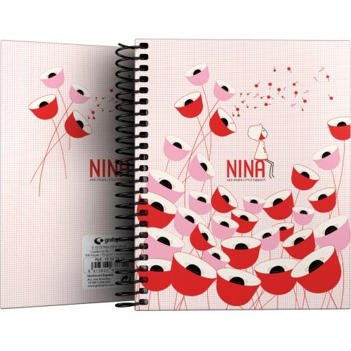 GRAFOPLAS 16521974. Cuaderno tapa dura A6 Nina Poppy
