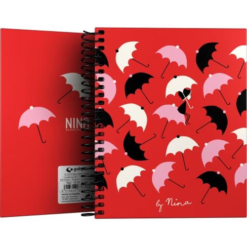 GRAFOPLAS 16521976. Cuaderno tapa dura A6 Nina Umbrellas