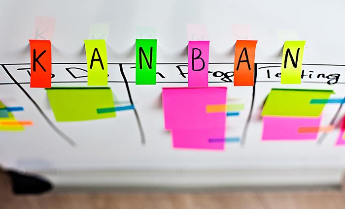 Organización de tareas con el método Kanban y posit