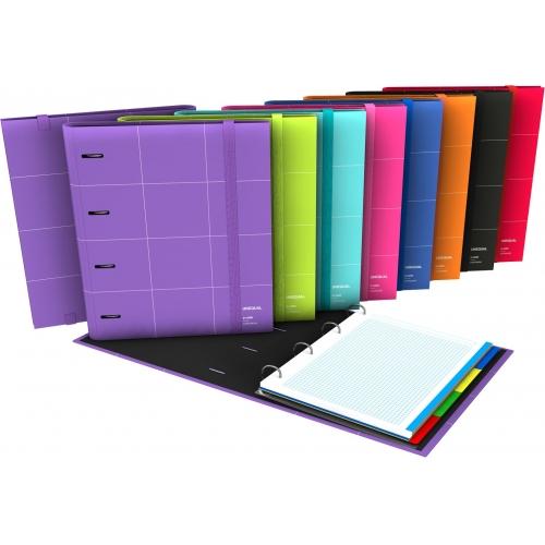GRAFOPLAS 88102951. Pack 2 CarpeBook A4 Unequal Grid color rojo