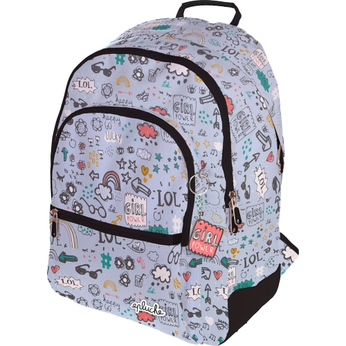 GRAFOPLAS 37500141. Mochila escolar Rubber Laurie Brochard Girl Power
