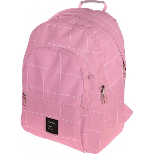 GRAFOPLAS 37502953. Mochila escolar Rubber Unequal Grid rosa claro