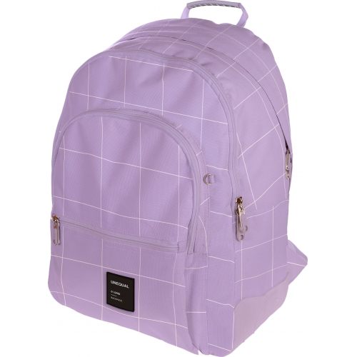 GRAFOPLAS 37502969. Mochila escolar Rubber Unequal Grid lavanda