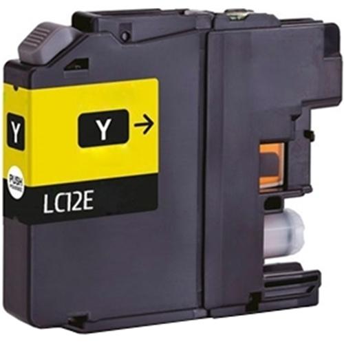 Iberjet BLC12EY Cartucho de tinta amarillo, reemplaza a Brother LC12EY