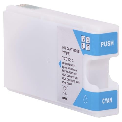 Iberjet ET7012-C Cartucho de tinta cian, reemplaza a Epson C13T70124010 / C13T70224010 / C13T70324010