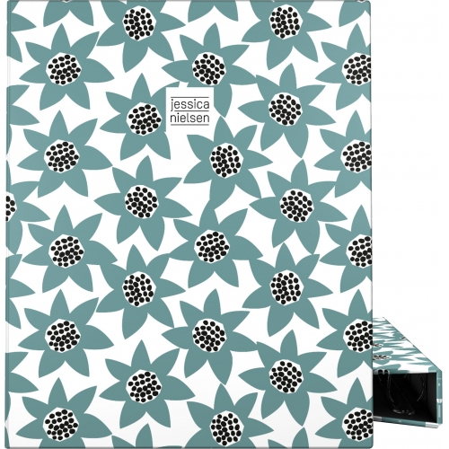 GRAFOPLAS 88141954. Pack 2 carpetas de anillas 25 mm. A4 Jessica Nielsen Flowers