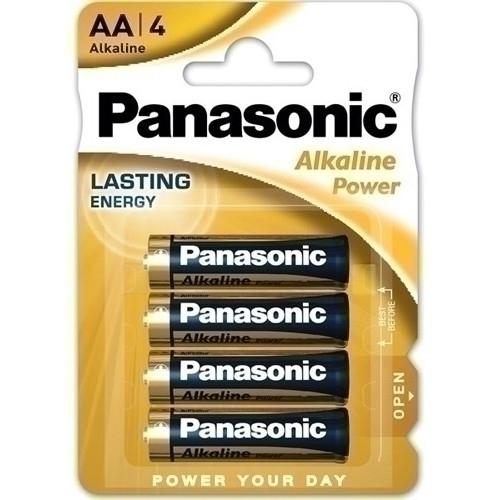 PANASONIC LR6-4BPAP Pilas Alkaline Power AA LR06. Blister de 4