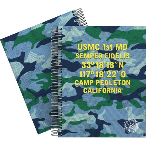 GRAFOPLÁS 16512604. Cuaderno tapa dura A5, 90 hojas, Master & Commander Azul