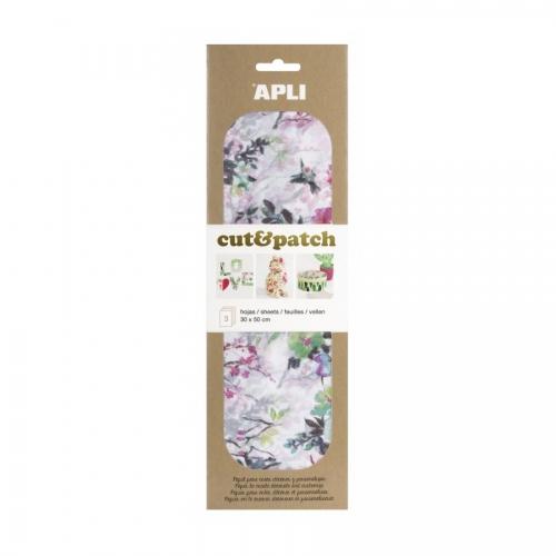 APLI 17231. Papel Cut&Patch Árboles 3 hojas