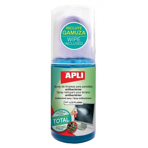 APLI 12084. Spray limpia pantallas anti bacterias (200 ml.)