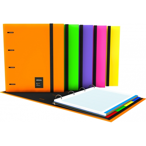 GRAFOPLAS 88106056. Pack 2 CarpeBook A4 Unequal Flúor color naranja