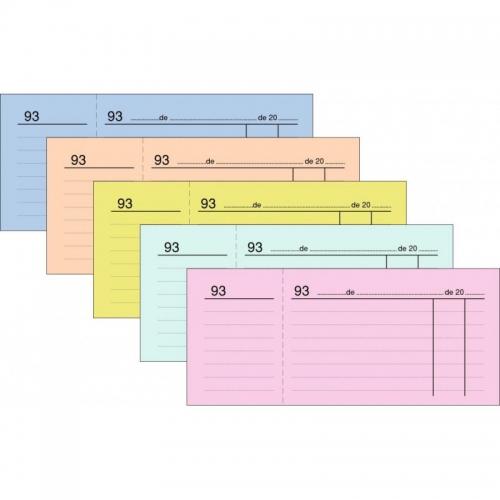 LOAN T-24 Rosa. Talonario caja numerado tres del cuarto (14,5 x 6 cm.)